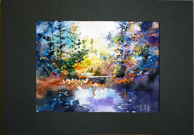 «Волшебный лес» – пейзаж акварелью